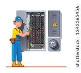 electrician engineer man... | Shutterstock .eps vector #1342265456