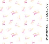 hand lettering pattern paris.... | Shutterstock .eps vector #1342266779