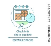 check in and check out date... | Shutterstock .eps vector #1342267979