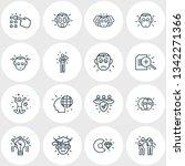 vector illustration of 16 emoji ... | Shutterstock .eps vector #1342271366