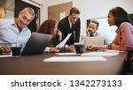 diverse group of businesspeople ... | Shutterstock . vector #1342273133