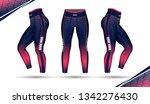 leggings pants training fashion ... | Shutterstock .eps vector #1342276430