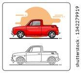 cute truck easy editable | Shutterstock .eps vector #1342279919