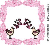 birds and hearts. vector... | Shutterstock .eps vector #1342288619