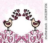 birds and hearts. vector... | Shutterstock .eps vector #1342289156