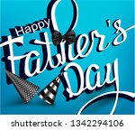 father's day banner with hand... | Shutterstock .eps vector #1342294106