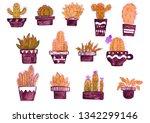 houseplants set collestion in...   Shutterstock . vector #1342299146