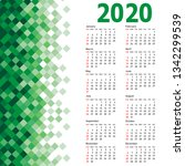 stylish calendar with abstract... | Shutterstock .eps vector #1342299539