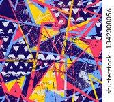 grunge geometric pattern for... | Shutterstock .eps vector #1342308056