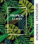 trendy summer tropical leaves... | Shutterstock .eps vector #1342310180