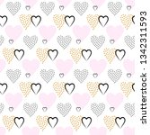 valentines day seamless pattern ... | Shutterstock . vector #1342311593