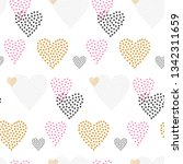 valentines day seamless pattern ... | Shutterstock . vector #1342311659