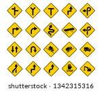 set of traffic sign in vector...   Shutterstock .eps vector #1342315316