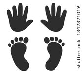 baby's footprints and... | Shutterstock .eps vector #1342321019