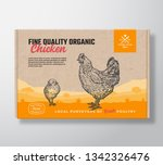 fine quality organic chicken.... | Shutterstock .eps vector #1342326476