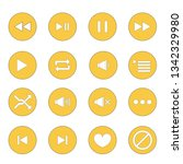 set icon music and multimedia... | Shutterstock . vector #1342329980