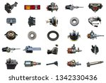 collage parts for auto isolated ... | Shutterstock . vector #1342330436