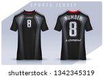 t shirt sport design template ... | Shutterstock .eps vector #1342345319