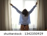 beautiful young blond woman in... | Shutterstock . vector #1342350929