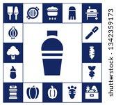 pepper icon set. 17 filled... | Shutterstock .eps vector #1342359173