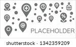 placeholder icon set. 11 filled ...