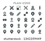 plain icon set. 30 filled plain ...