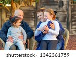 beautiful happy old couple and...   Shutterstock . vector #1342361759