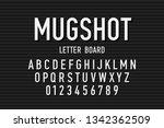 police mugshot letter board... | Shutterstock .eps vector #1342362509