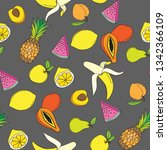 background with juicy fruits....   Shutterstock .eps vector #1342366109