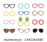 set of real colorful style cute ... | Shutterstock .eps vector #1342366580