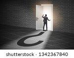 businessman in uncertainty and... | Shutterstock . vector #1342367840