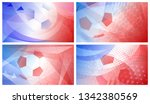 soccer backgrounds in colors of ... | Shutterstock .eps vector #1342380569