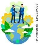 handshake of world business... | Shutterstock .eps vector #1342389779