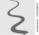 vector curved road with white...   Shutterstock .eps vector #1342408076