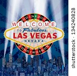 vector las vegas sign with... | Shutterstock .eps vector #134240828