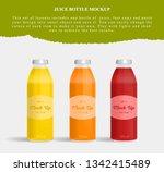 juice bottle glass isolated on...   Shutterstock .eps vector #1342415489