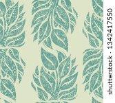 vector seamless floral grunge... | Shutterstock .eps vector #1342417550