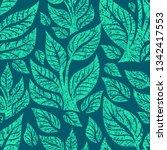 vector seamless floral grunge... | Shutterstock .eps vector #1342417553