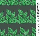 vector seamless floral grunge... | Shutterstock .eps vector #1342417556