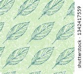 vector seamless floral grunge... | Shutterstock .eps vector #1342417559