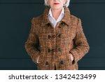 trendy senior wardrobe. female... | Shutterstock . vector #1342423499