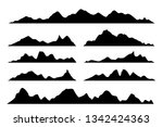 vector graphics set of... | Shutterstock .eps vector #1342424363