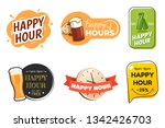 happy hour banner collection.... | Shutterstock .eps vector #1342426703