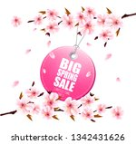 spring sale background with a... | Shutterstock .eps vector #1342431626