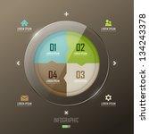 vector infographic template... | Shutterstock .eps vector #134243378