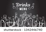 vector outline hand drawn... | Shutterstock .eps vector #1342446740