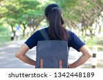 woman with backpack in outdoor  | Shutterstock . vector #1342448189