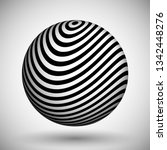 optical illusion lines... | Shutterstock .eps vector #1342448276