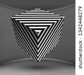 optical illusion lines... | Shutterstock .eps vector #1342448279