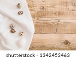 top view on fresh eggs lying on ...   Shutterstock . vector #1342453463